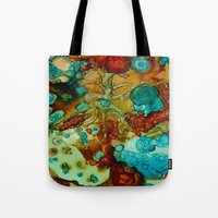 flora beginnings Abstract Tote Bag