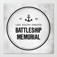 Battleship Memorial Canvas Print