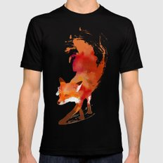 Vulpes vulpes Mens Fitted Tee SMALL Black