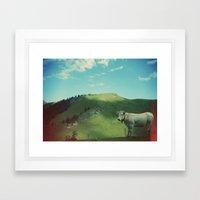 Mountain Cow Framed Art Print