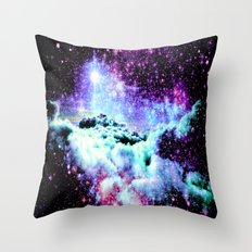 Galaxy Clouds Pink Periwinkle Purple Throw Pillow