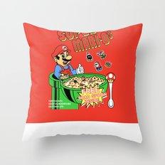 Super Mari-Os Throw Pillow