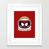 Spidey-Naut Framed Art Print