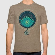 Blue Lotus Mens Fitted Tee Tri-Coffee SMALL