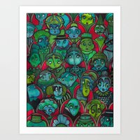 The Audience.  Art Print