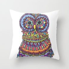 Patterned Owl Throw Pillow