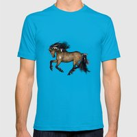 HORSE - Cherokee Mens Fitted Tee Teal SMALL