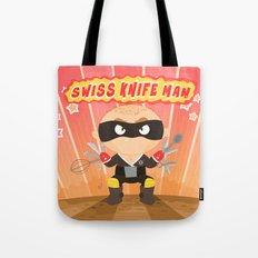 Swiss Knife Man Tote Bag