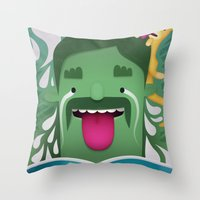 Money Shot Throw Pillow