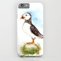 iPhone & iPod Case featuring Puffin on a Rock by Goosi