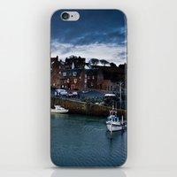 Fishing Harbor iPhone & iPod Skin