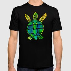 Turtle Love Black Mens Fitted Tee SMALL