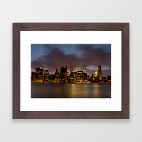 Downtown New York City Framed Art Print