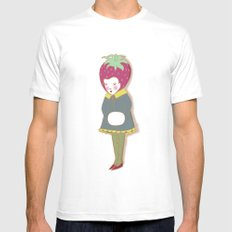 Strawberry head  Mens Fitted Tee White SMALL