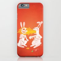 iPhone & iPod Case featuring Fire Bunny by Mike Oncley