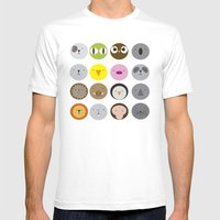 Animals Mens Fitted Tee White SMALL