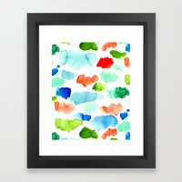 Watercolor Swatch Pattern Framed Art Print