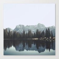 Reflections In The Dolom… Canvas Print
