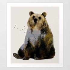 Bear Relaxing Art Print