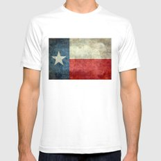 Texas flag - Retro 1 Mens Fitted Tee White SMALL