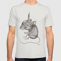 'Lost In My Mind' Mens Fitted Tee Silver SMALL