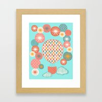Floating On Framed Art Print