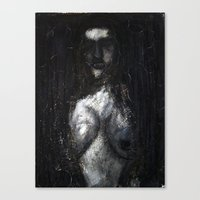 HOT VAMPIRE WITH IMPLANTS Canvas Print