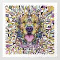 rainbow dog Art Print