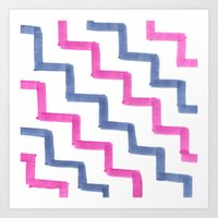 Missoni Stairs Art Print