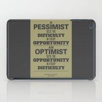 Pessimist / Optimist iPad Case
