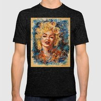 Blonde Bombshell Mens Fitted Tee Tri-Black SMALL