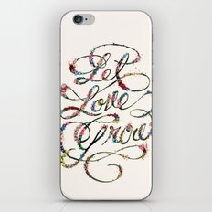 Let Love Grow iPhone & iPod Skin