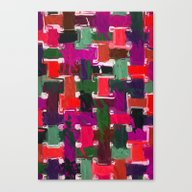 Red, Purple & Green Canvas Print