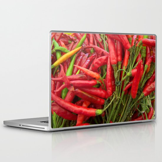 Red Peppers Laptop & iPad Skin