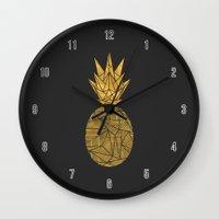 Bullion Rays Pineapple Wall Clock