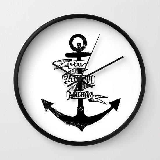 The Faithful Anchor Wall Clock