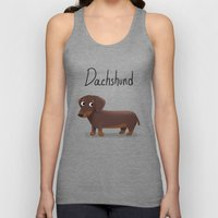 Dachshund - Cute Dog Ser… Unisex Tank Top