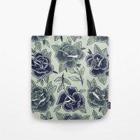Dozen Roses - Blue Tote Bag