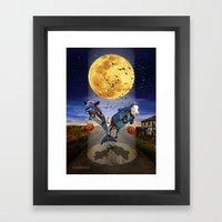 Halloween - Last Stop? Framed Art Print