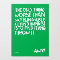 ...Away (Vers. 2) Canvas Print