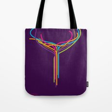 SF Against Stupidity*   Lines Tote Bag
