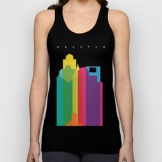 Shapes of Houston. Accurate to scale Unisex Tank Top