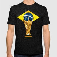Brazil 2014 Mens Fitted Tee Tri-Black SMALL