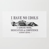 I Have No Idols - Senna Quote Rug