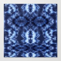 Topanga Tie-Dye Blue Canvas Print