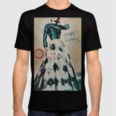 Carte Postale Mens Fitted Tee Black SMALL