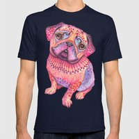 Pugberry Mens Fitted Tee Navy SMALL