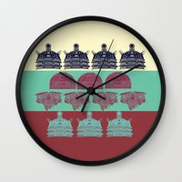 Robots don't like stairs (R2D2, Johnny 5 & The Dalek) Wall Clock