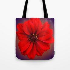 Red dahlia-bishop-of-llandaff Tote Bag