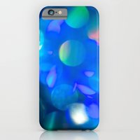 iPhone & iPod Case featuring Bokeh in Blue by Lee Anne Steers